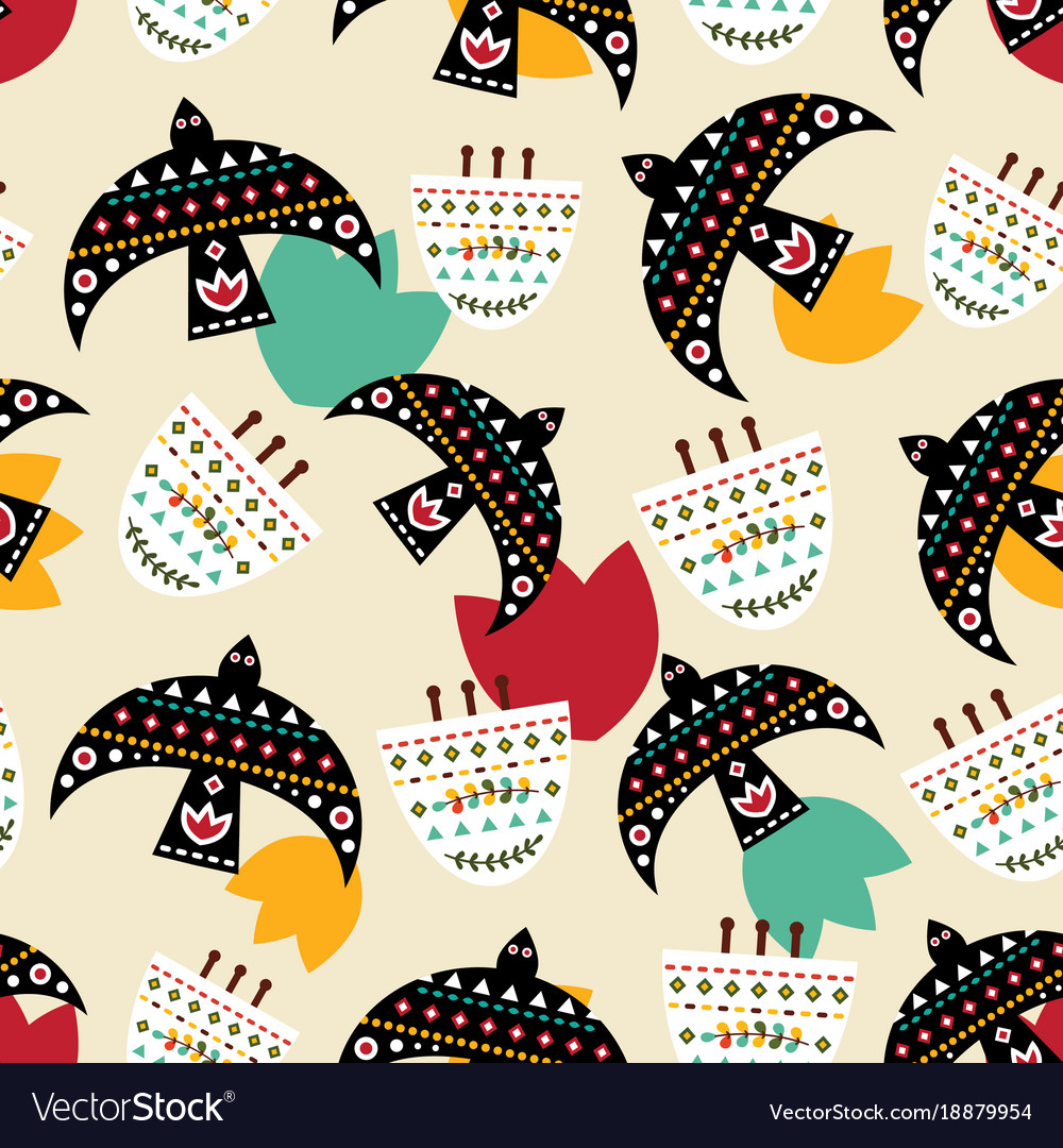 Mexican bright pattern vector image