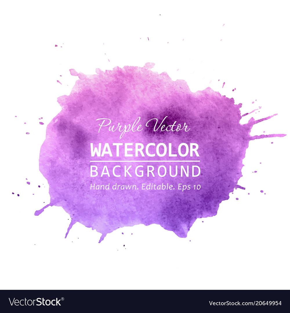 Purple paint splatter background watercolor