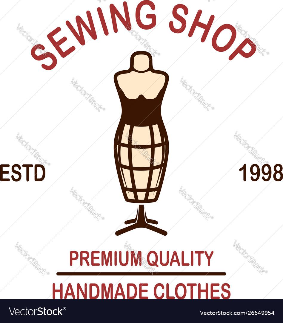 Tailor shop emblem template design element for