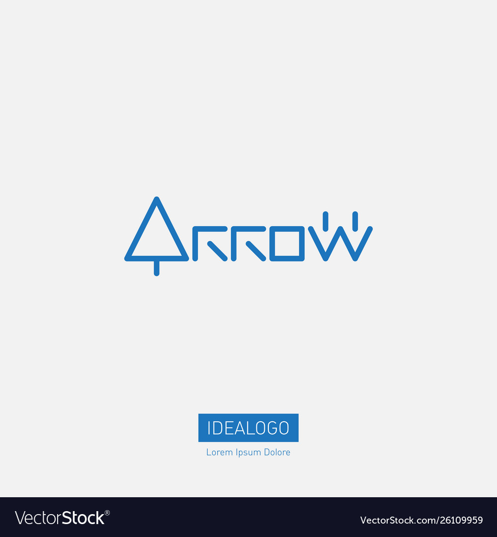 Arrow - logotype original lettering with arows