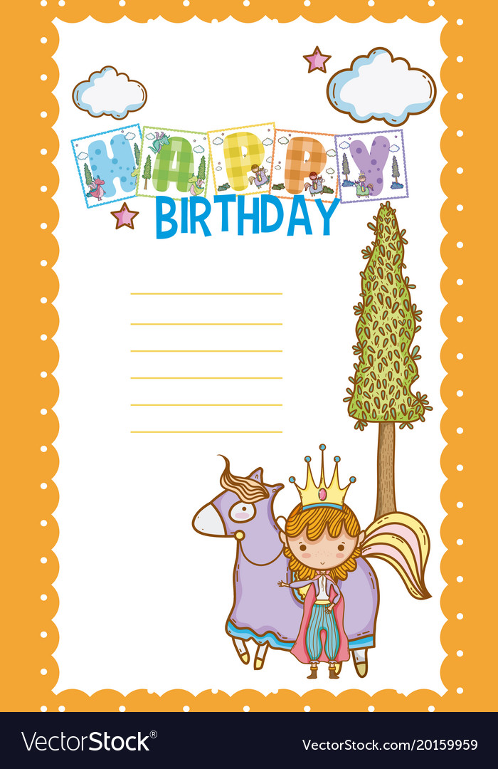 Happy Birthday Card For Little Boy Royalty Free Vector Image