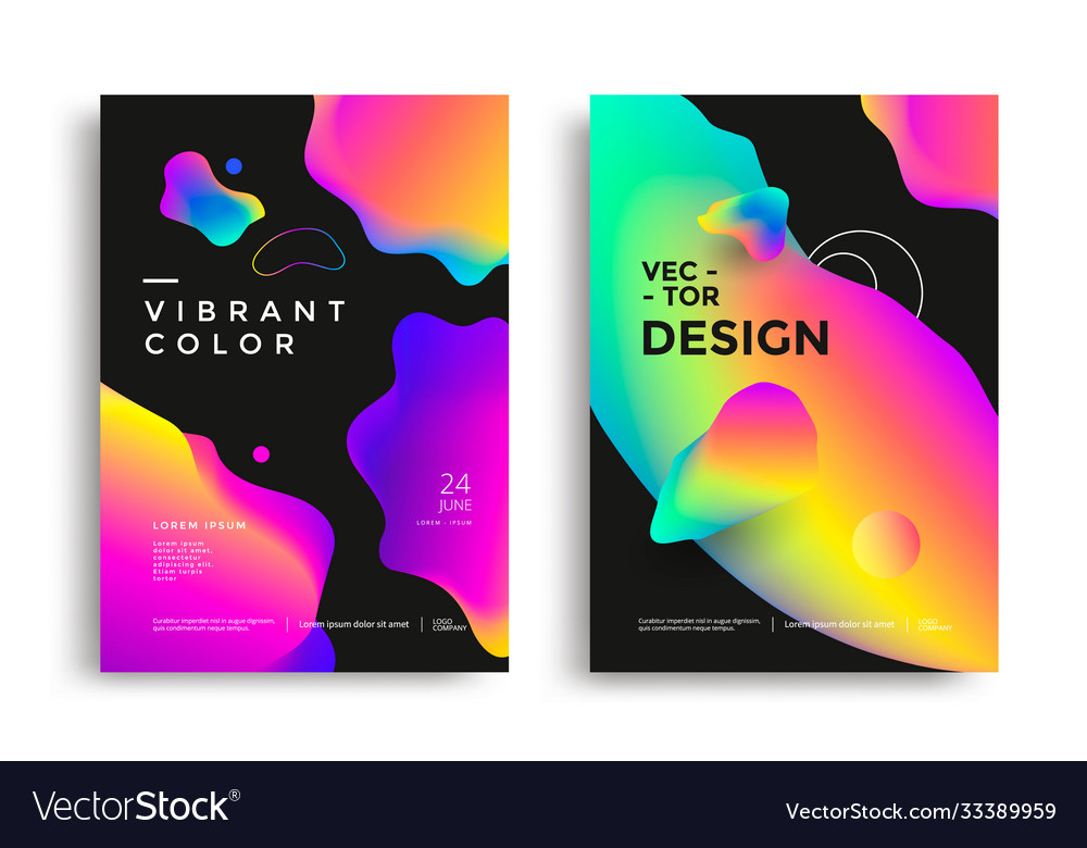 Modern poster layout with vibrant gradient shapes