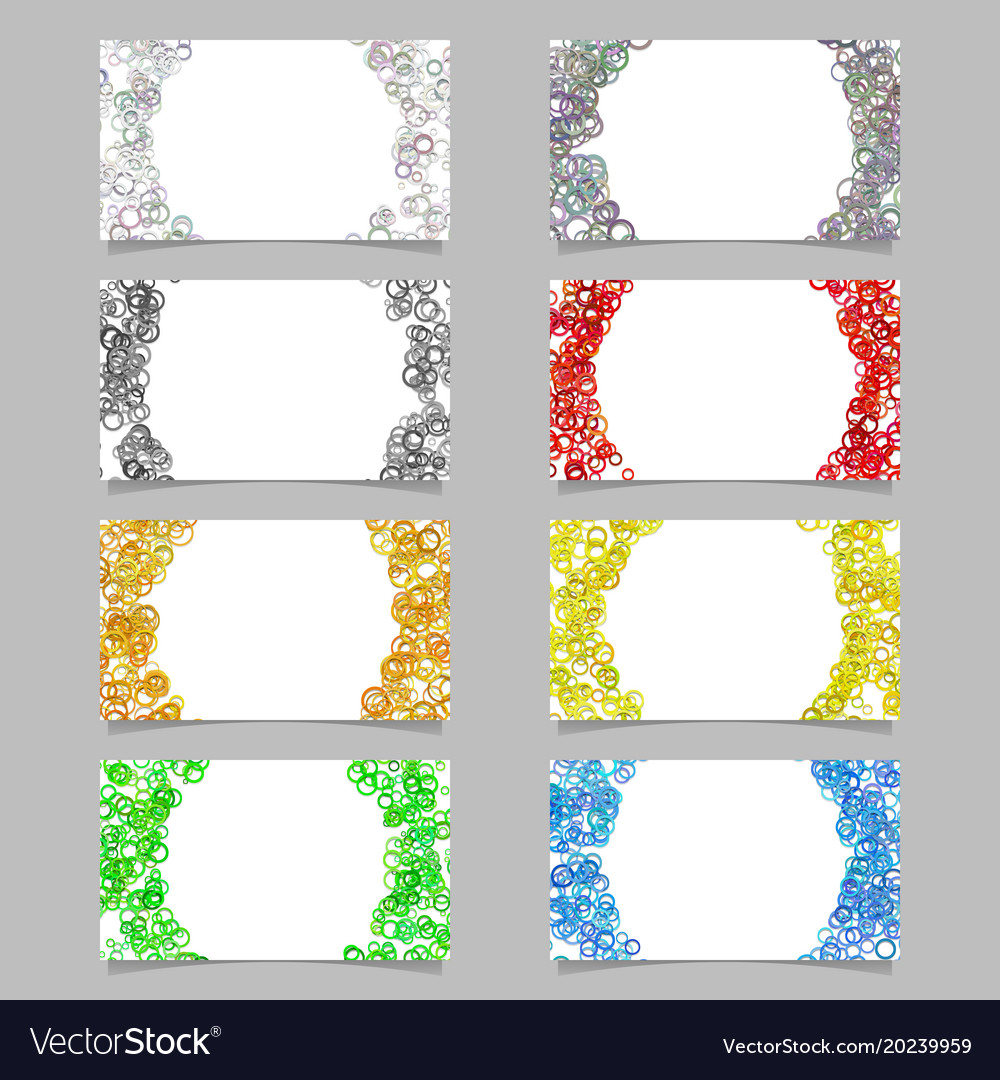 Random circle background business card template vector image