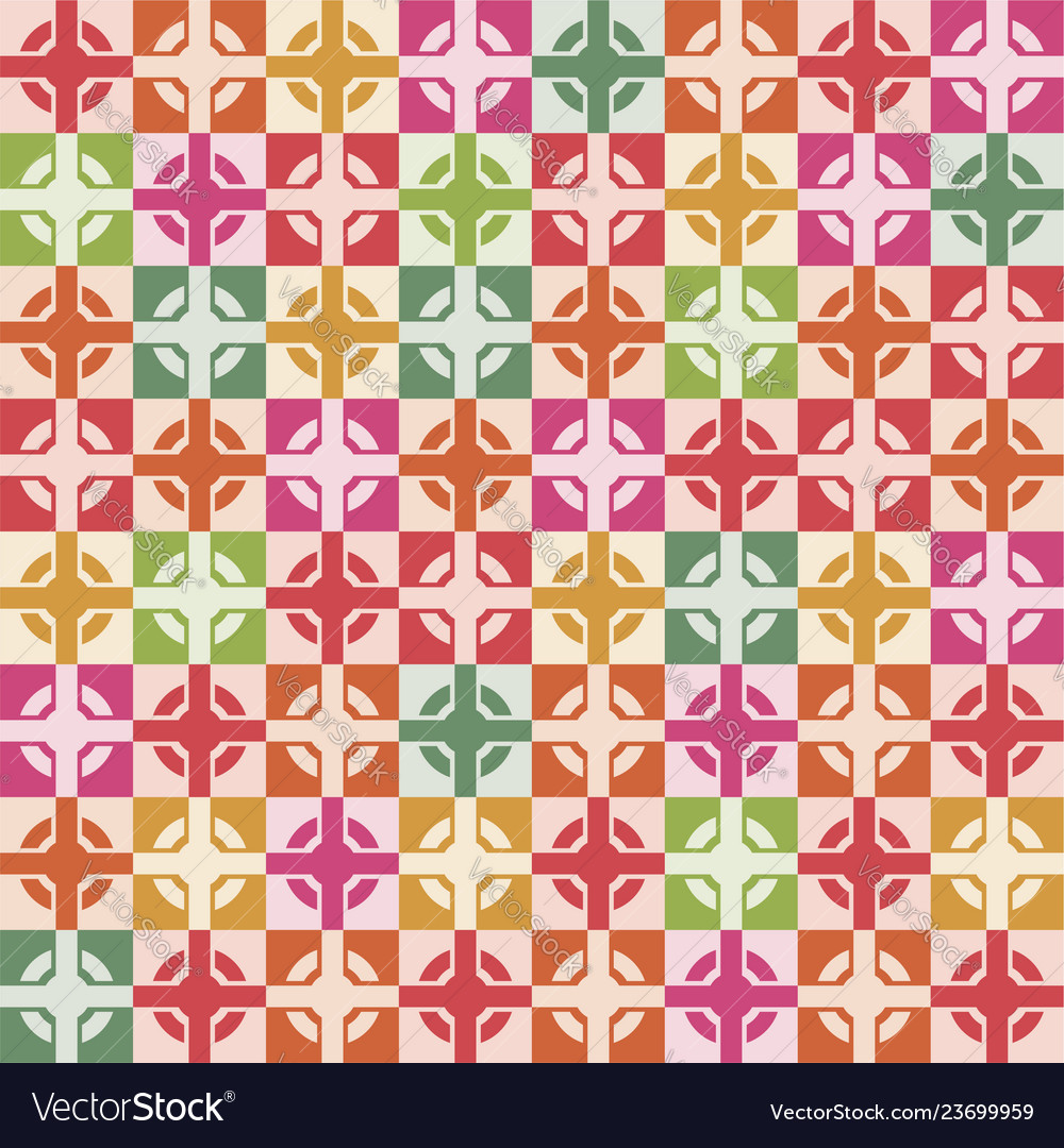 Wallpaper seamless decoration of square tiles