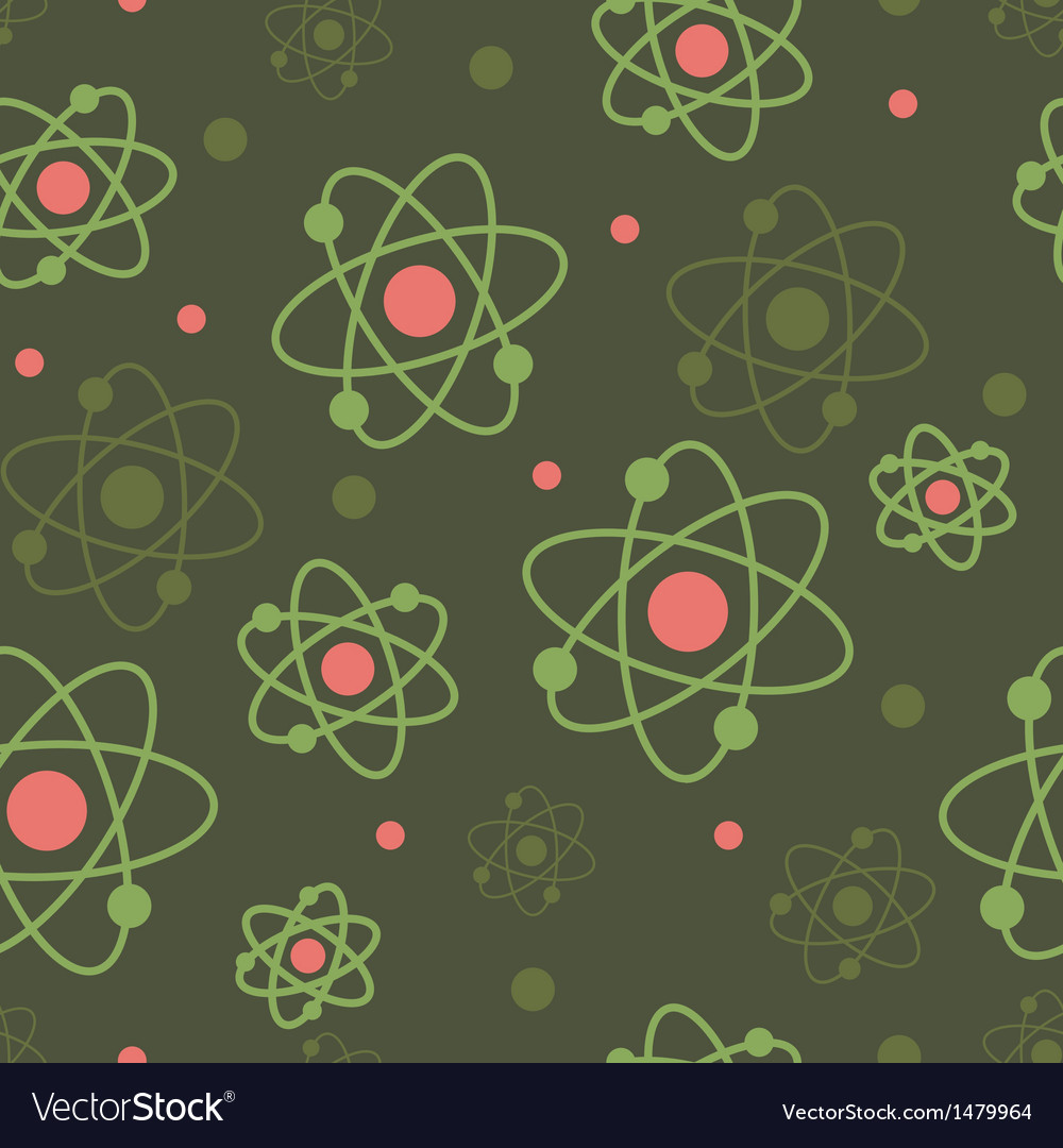 Atoms seamless pattern background