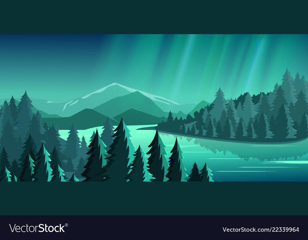 Beautiful view with forest