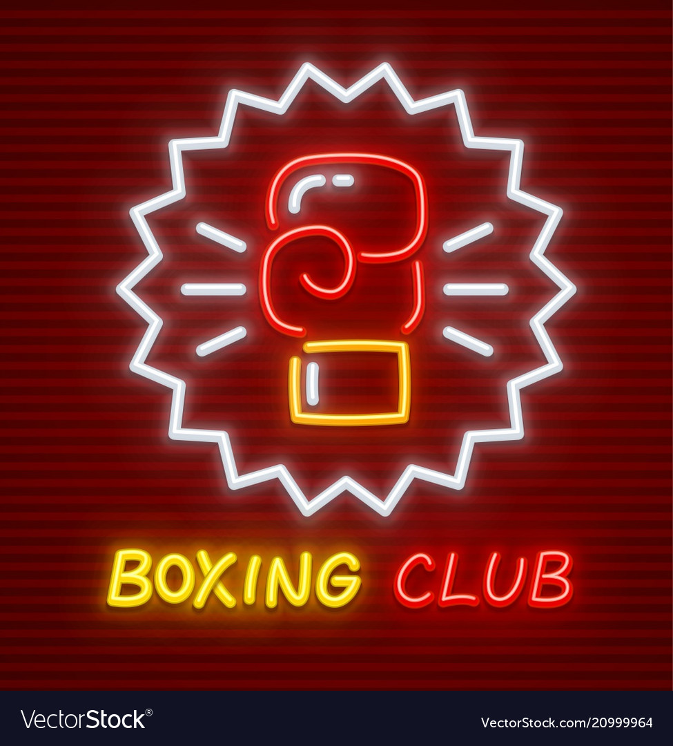 Boxing club glove for boxer