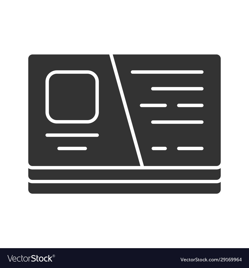 Business card visiting cutaway glyph icon
