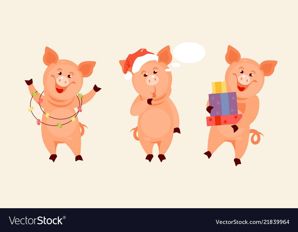 Christmas Pig.Christmas Pig Set