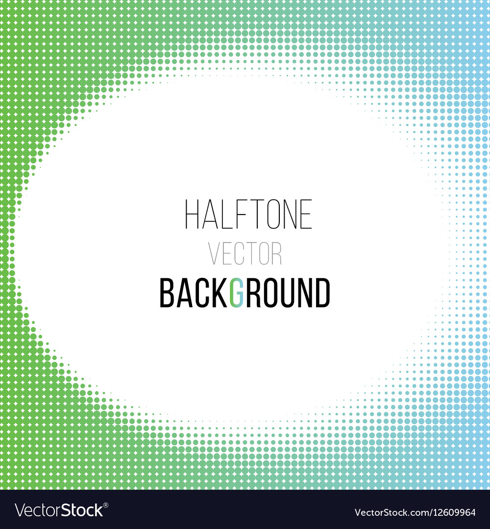 Color gradient dot halftone background