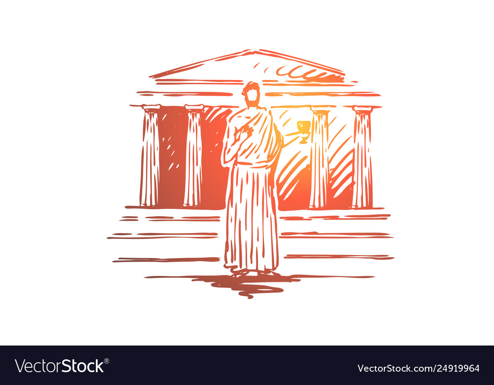 Greece travel temple building column