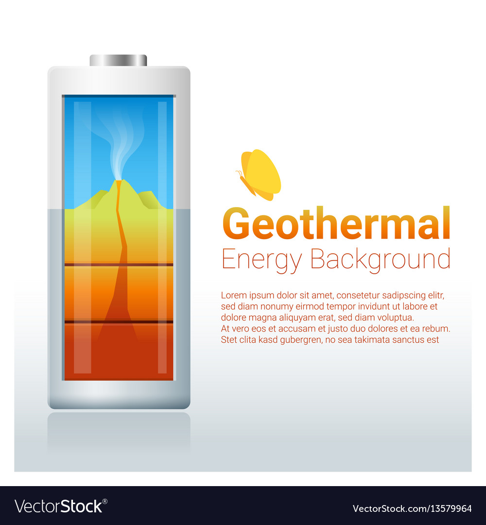 Green energy concept background with geothermal
