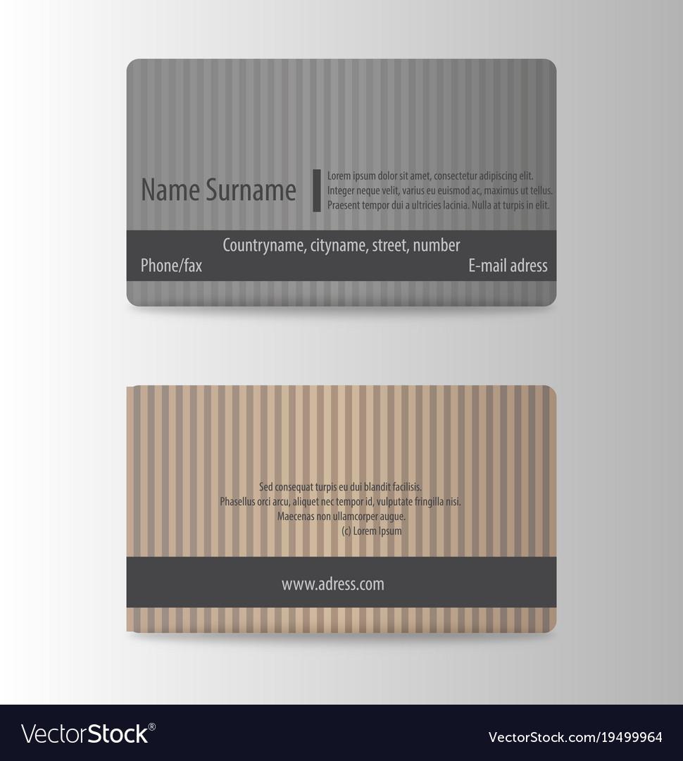 Modern business card print template trending Vector Image