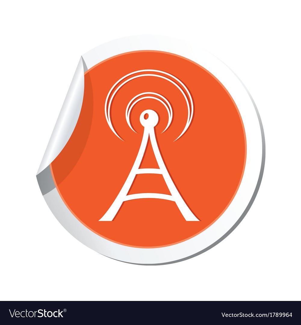 Wi fi icon orange sticker