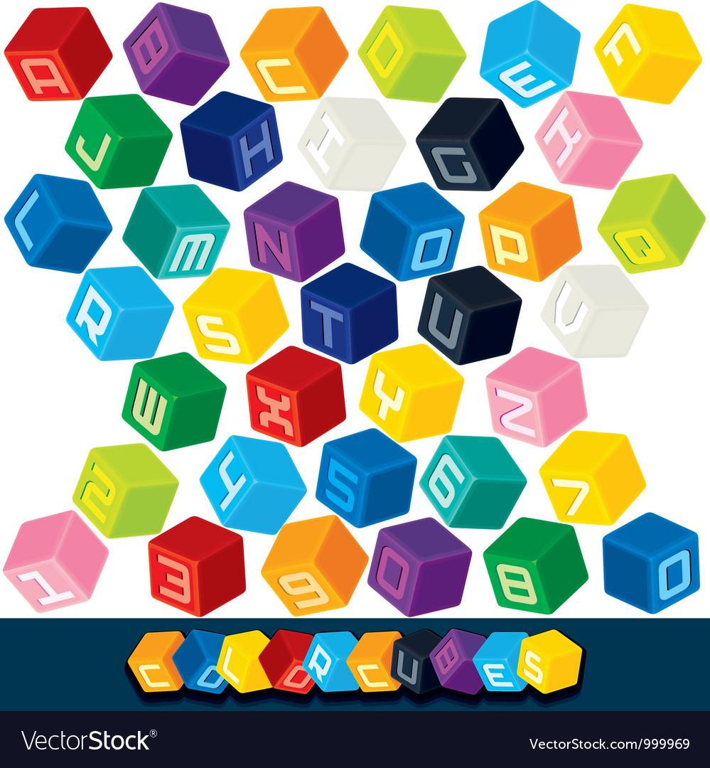 3D Cubics Font
