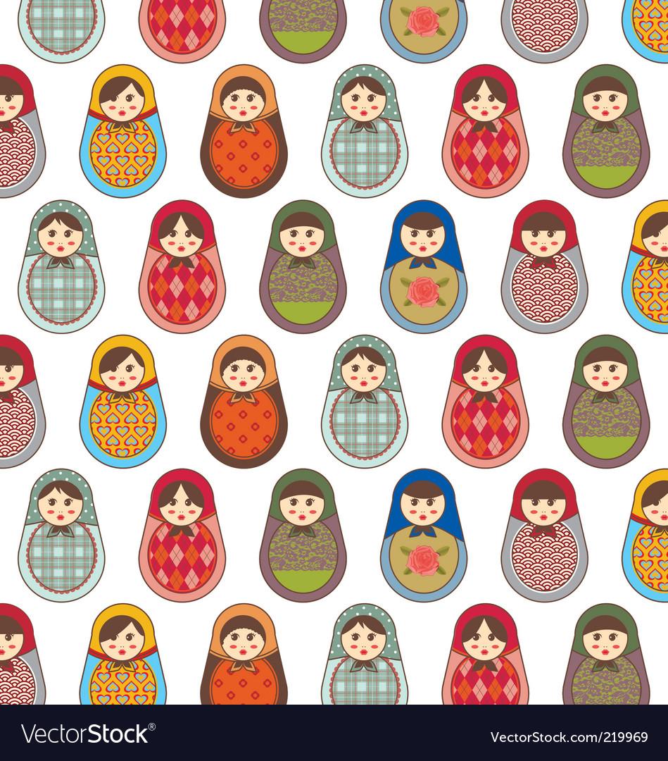 Babushka seamless pattern