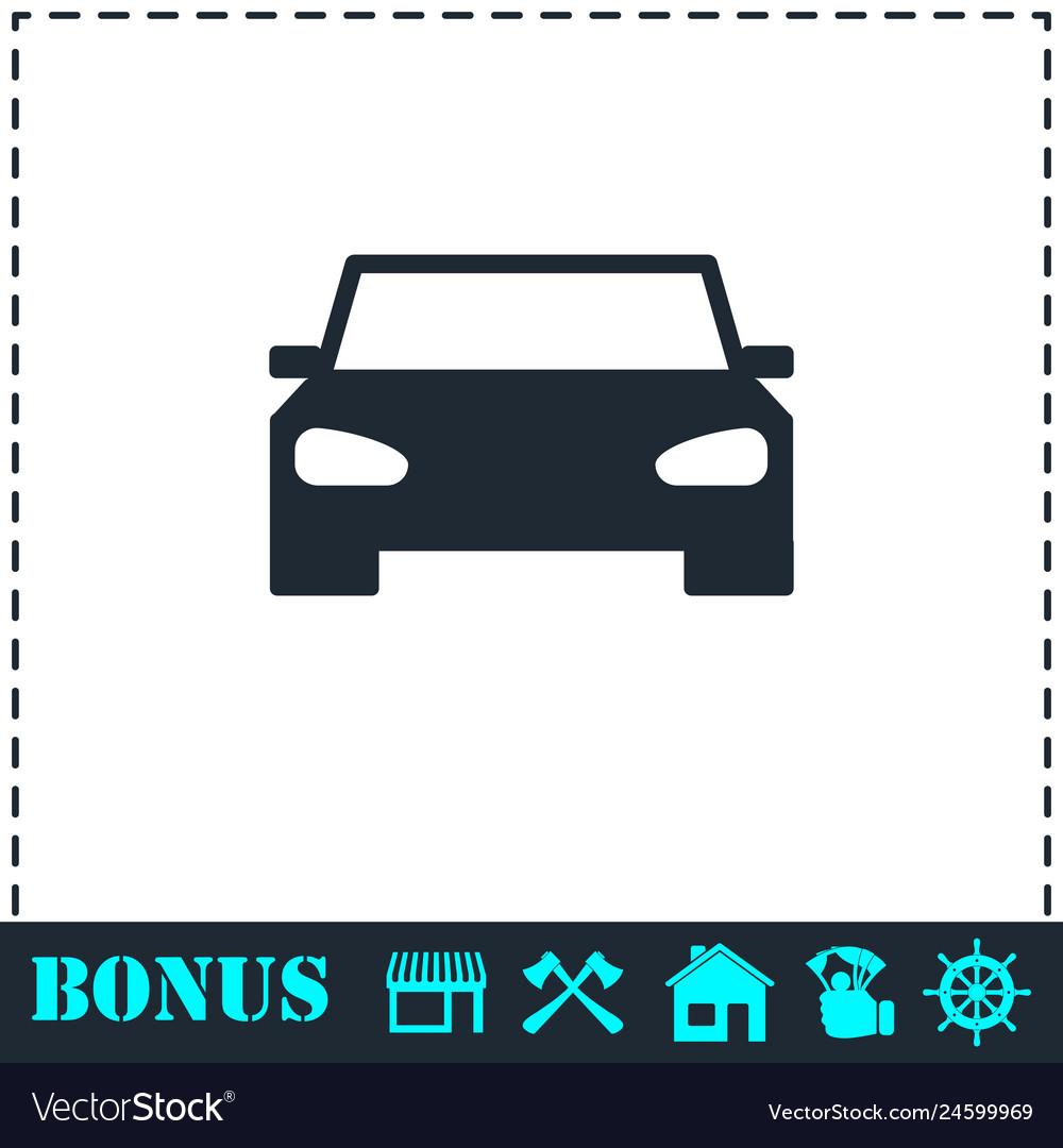 Car icon flat