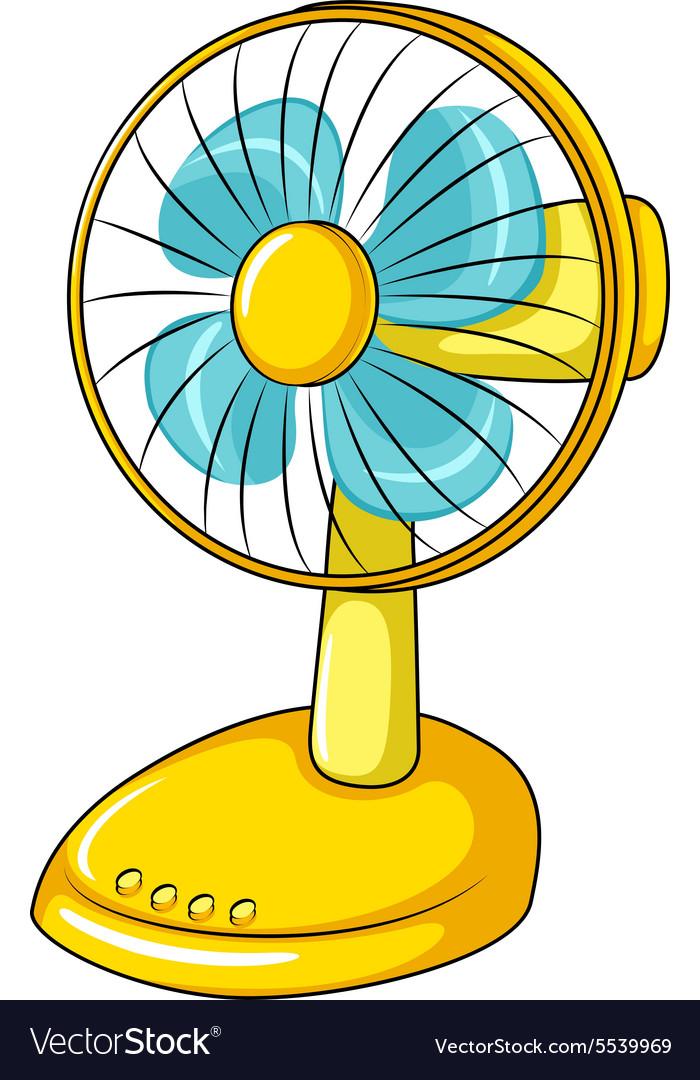 Electric Fan Cartoon : Electric fan royalty free vector image vectorstock