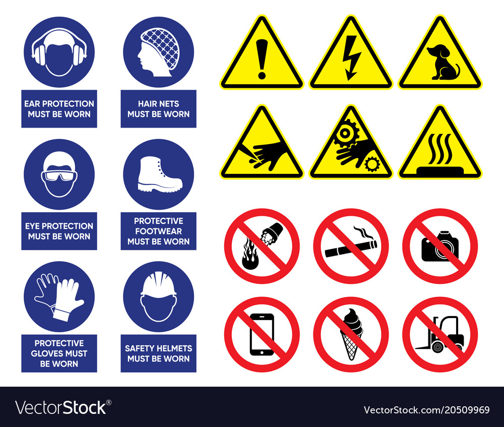 Health And Safety Signs Royalty Free Vector Image