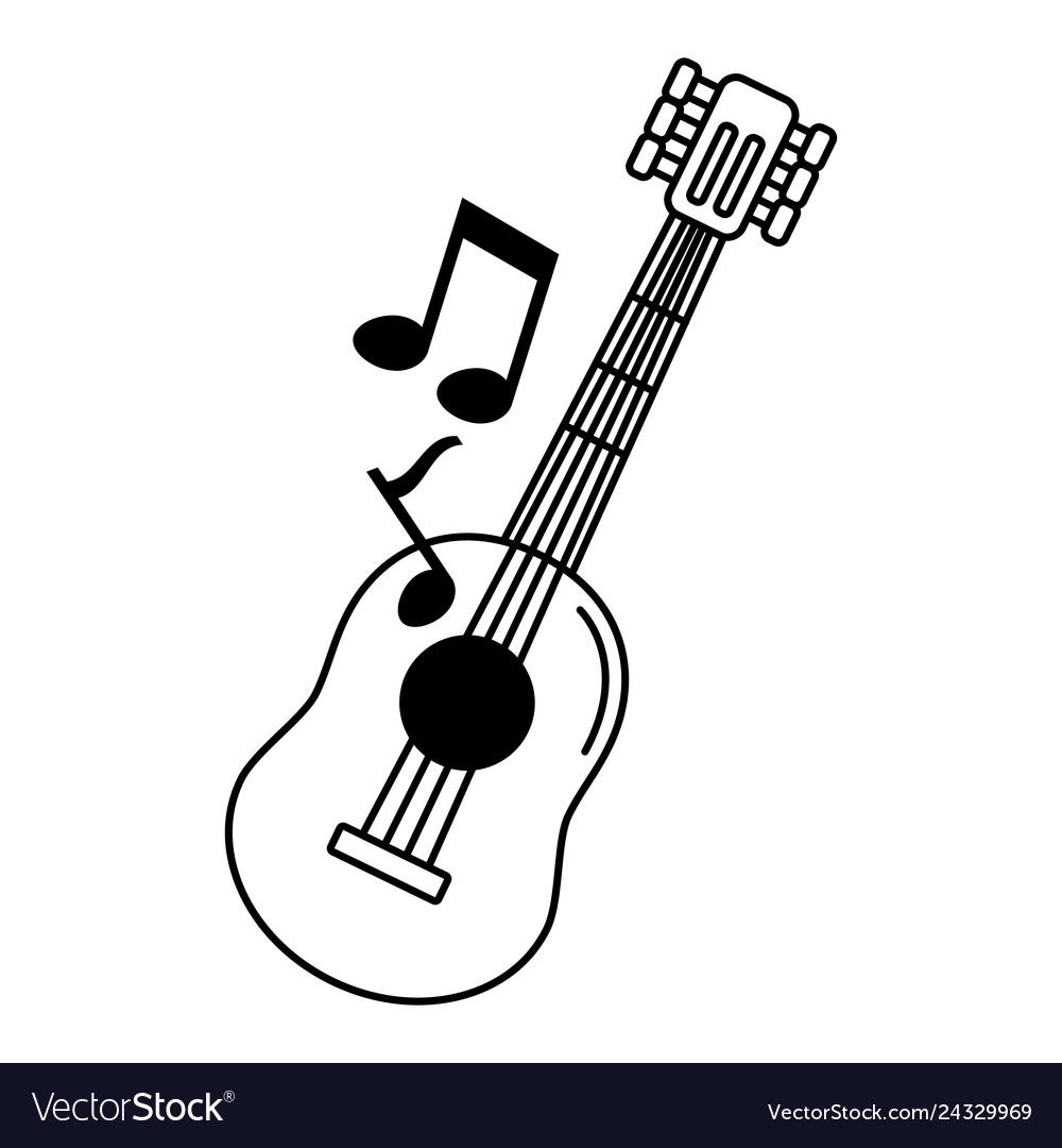 Musical guitar icon