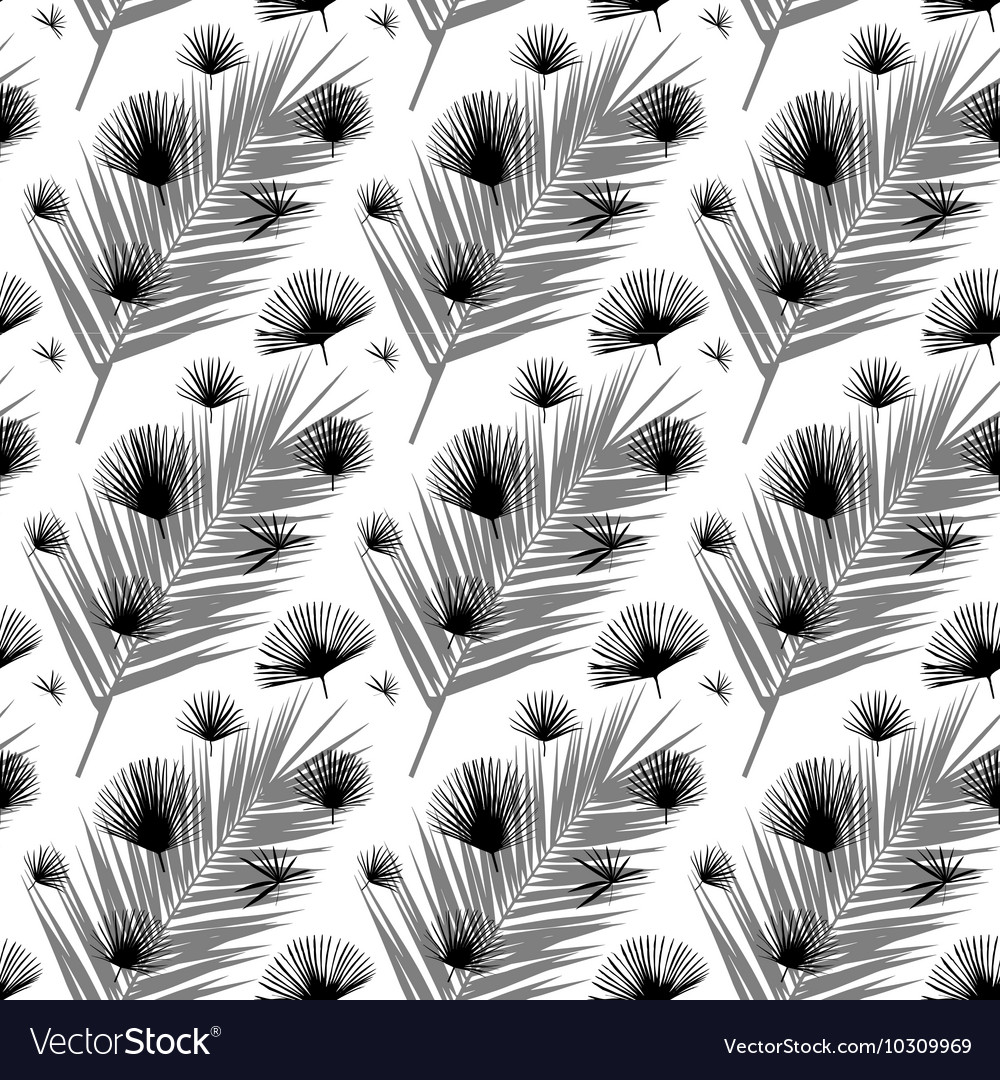 Palm Leaf Seamless Pattern Background