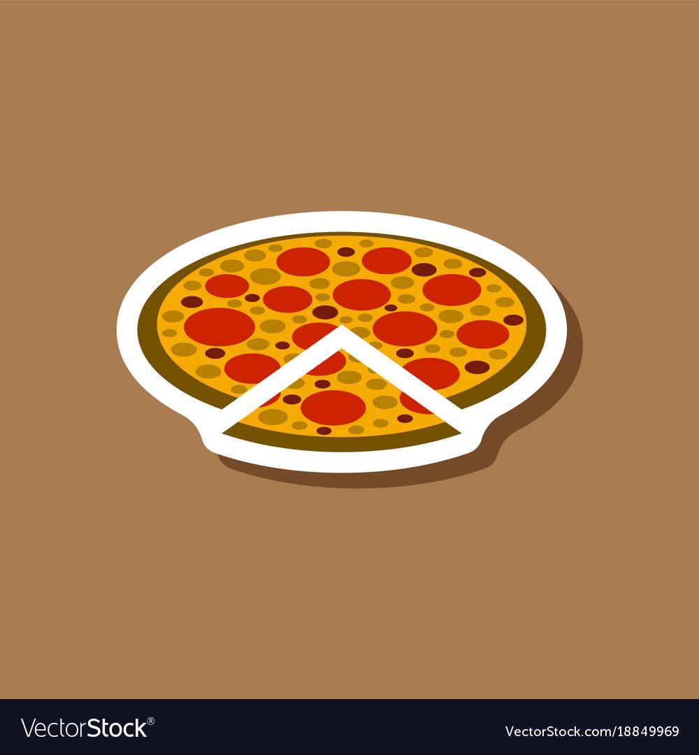 Paper sticker pizza