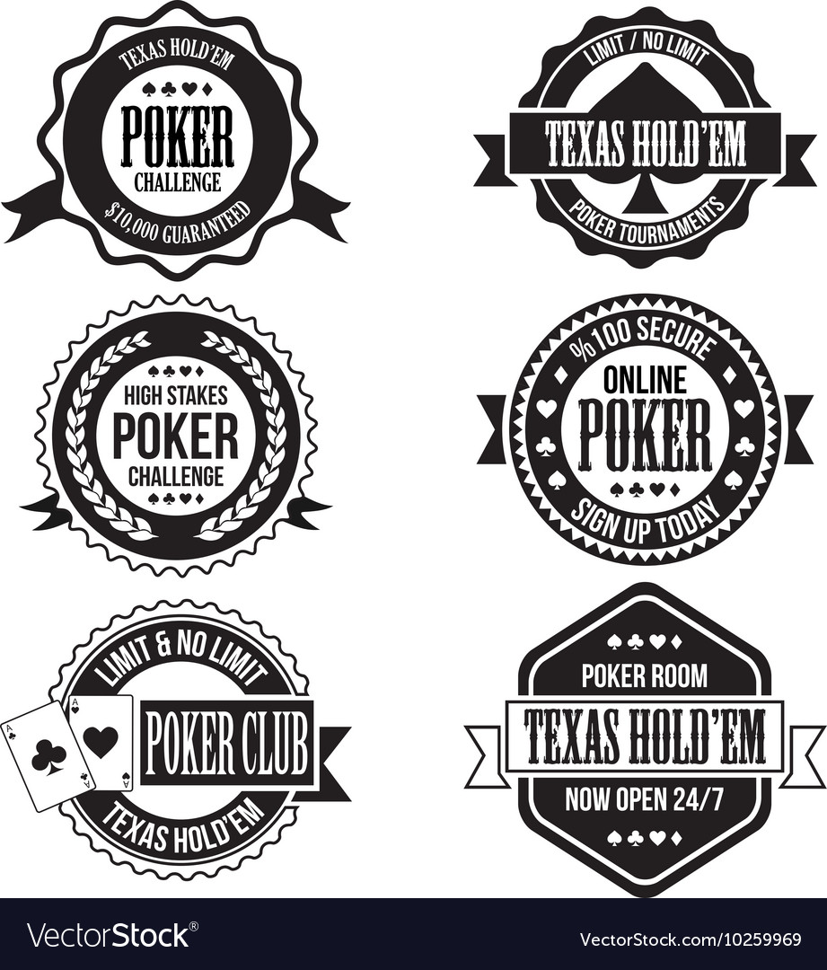 Poker and casino badges vector image