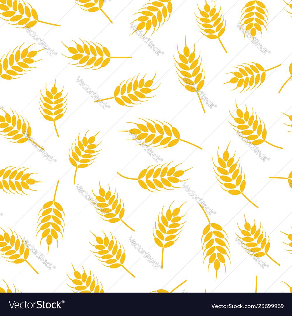 Seamless wheat or rye pattern
