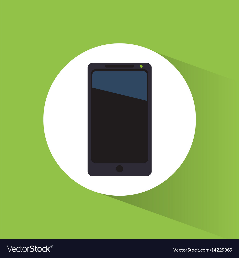 Smartphone marketing tool internet business vector image