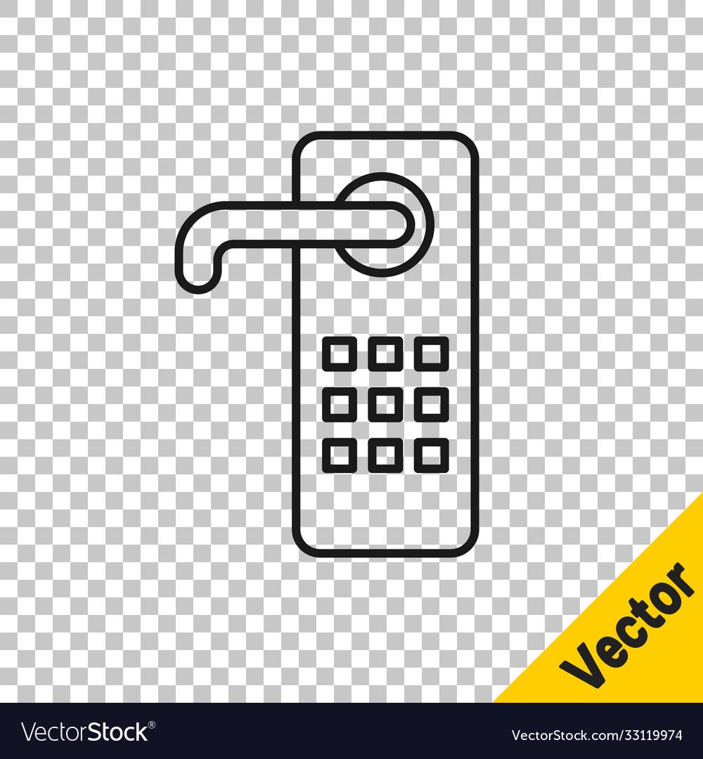 Black line digital door lock with wireless