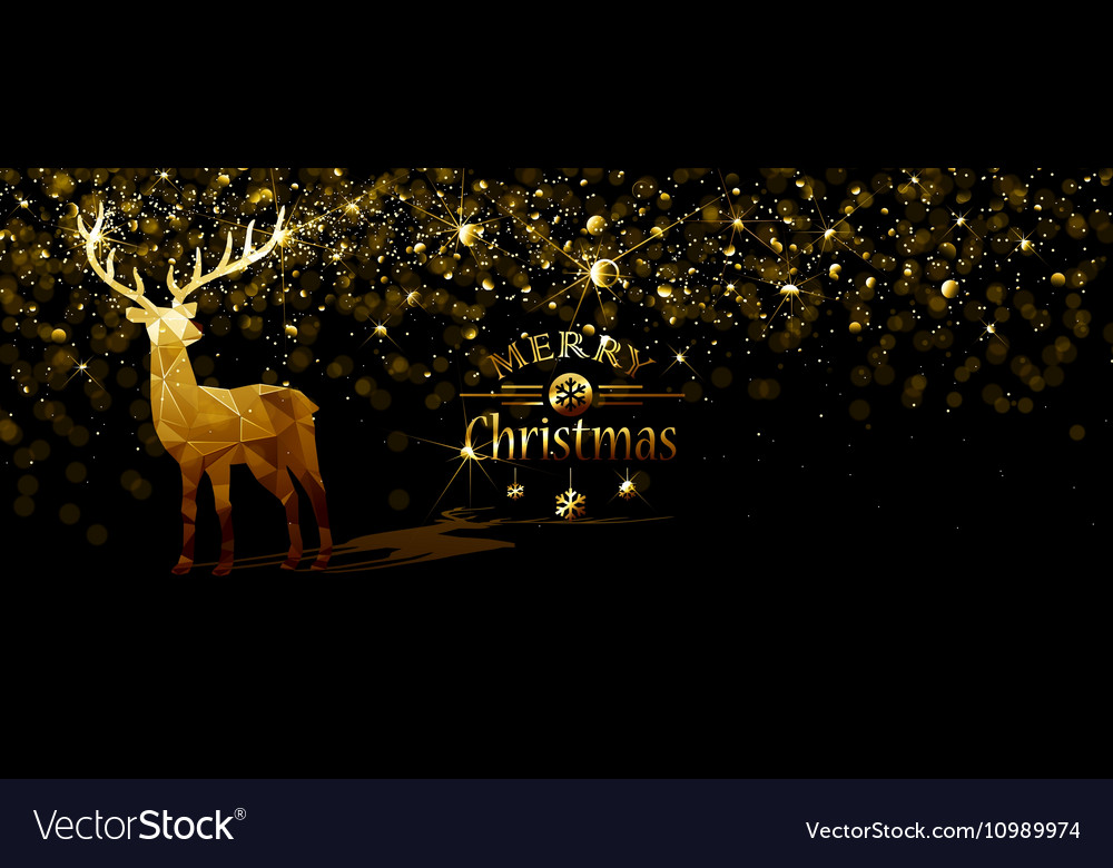 Christmas with Gold deer