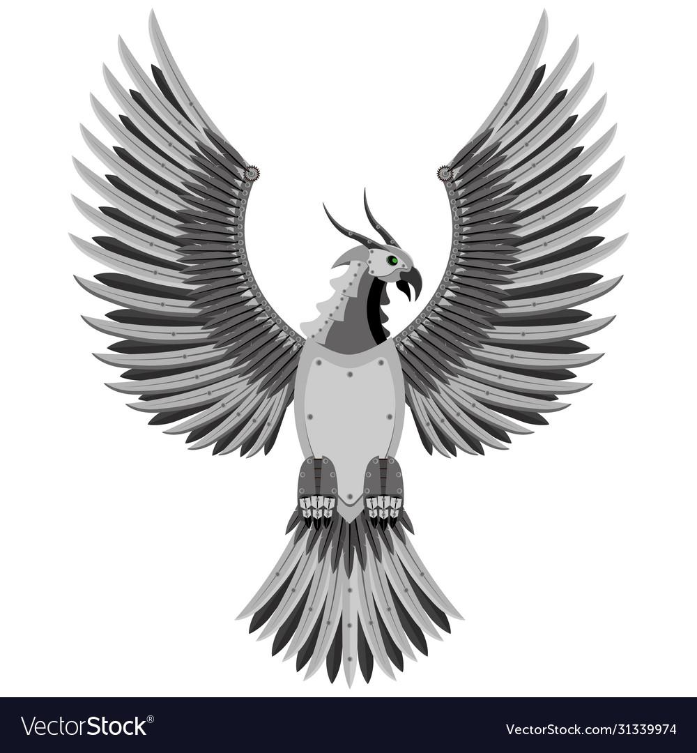 Fantastic phoenix bird prey in style