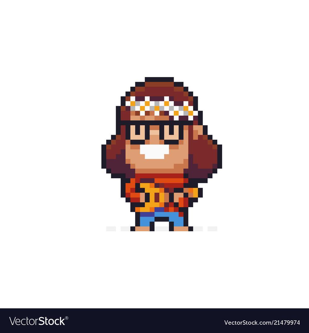 Pixel art hippie