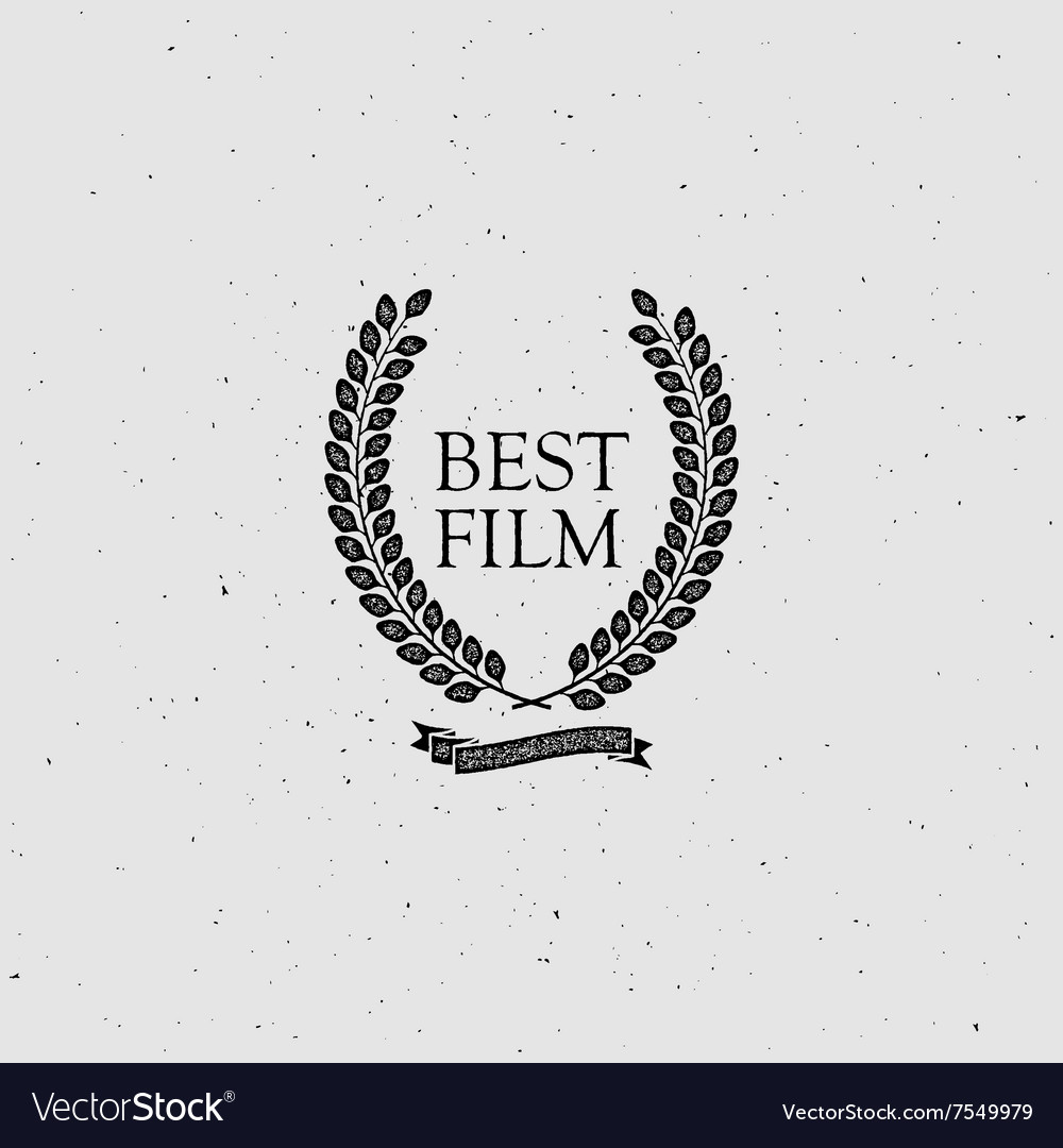Best Film Award Sign vector image