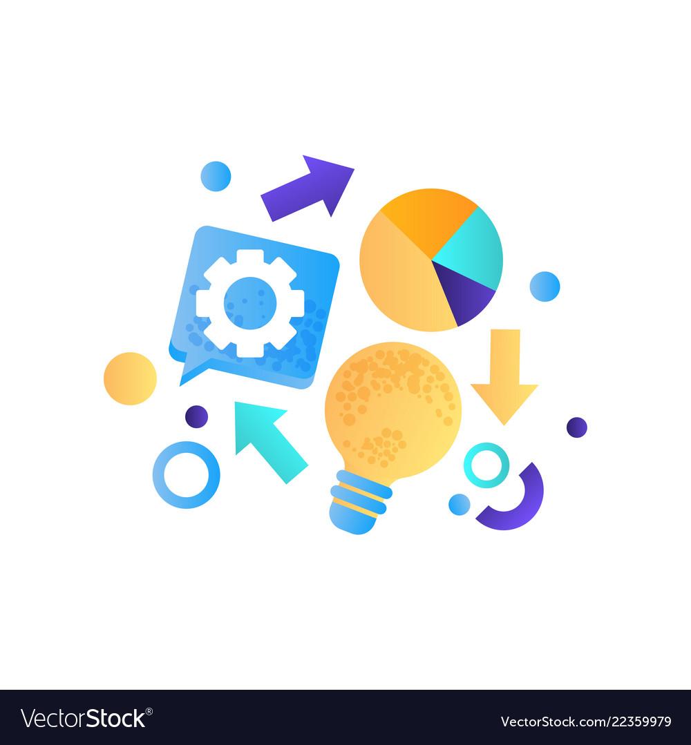 Business elements finance strategy idea