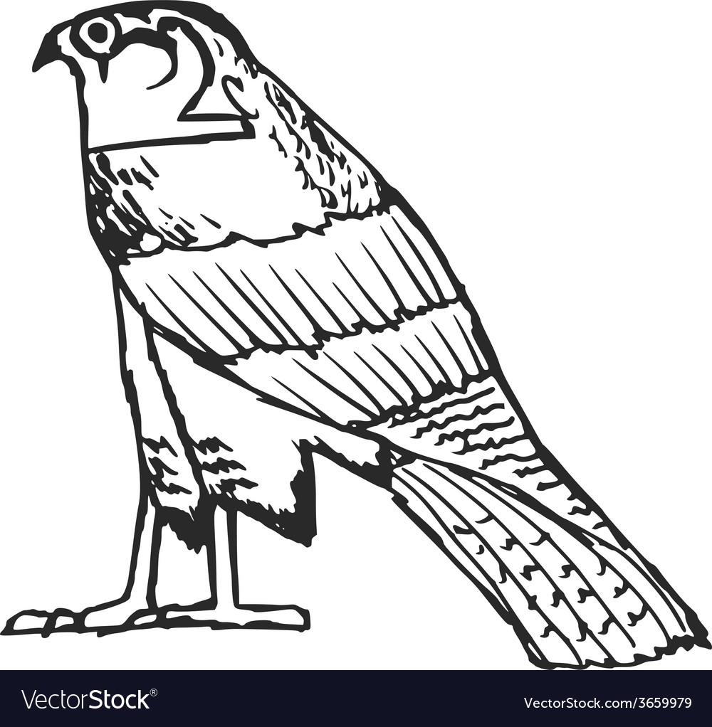 Falcon Ancient Egyptian Symbol Royalty Free Vector Image