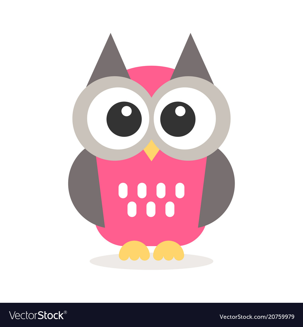 Baby Owl Icon Of Cute Owl Vectorstock Icon Of Cute Owl Royalty Free Vector Image Vectorstock