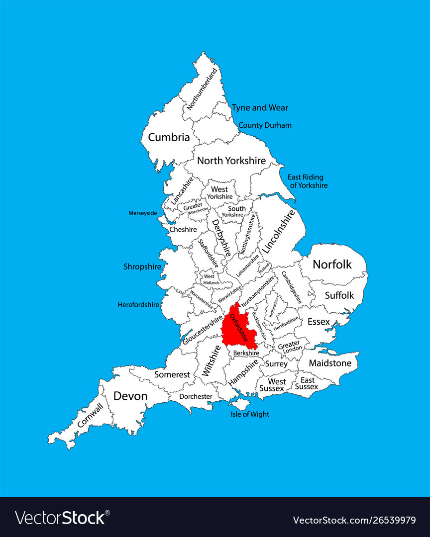 Map Of The South Of England.Oxfordshire Map South East England United Kingdom