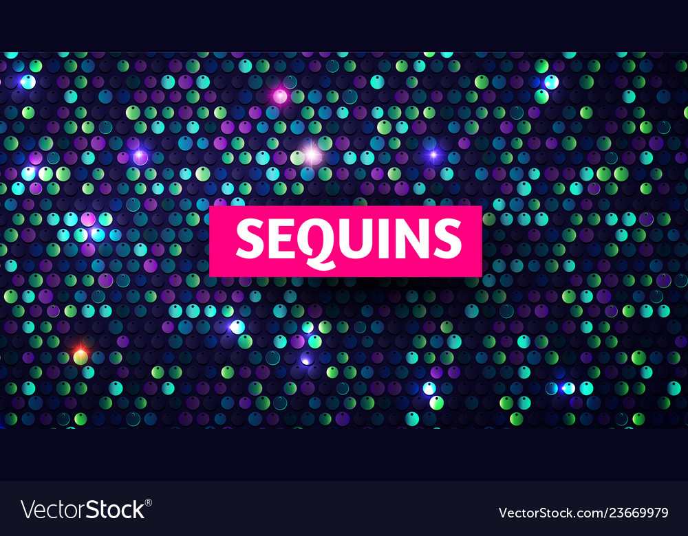 Shining sequins abstract background glittering