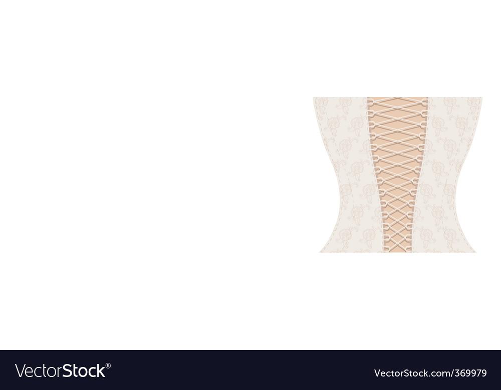 White corset with ribbon