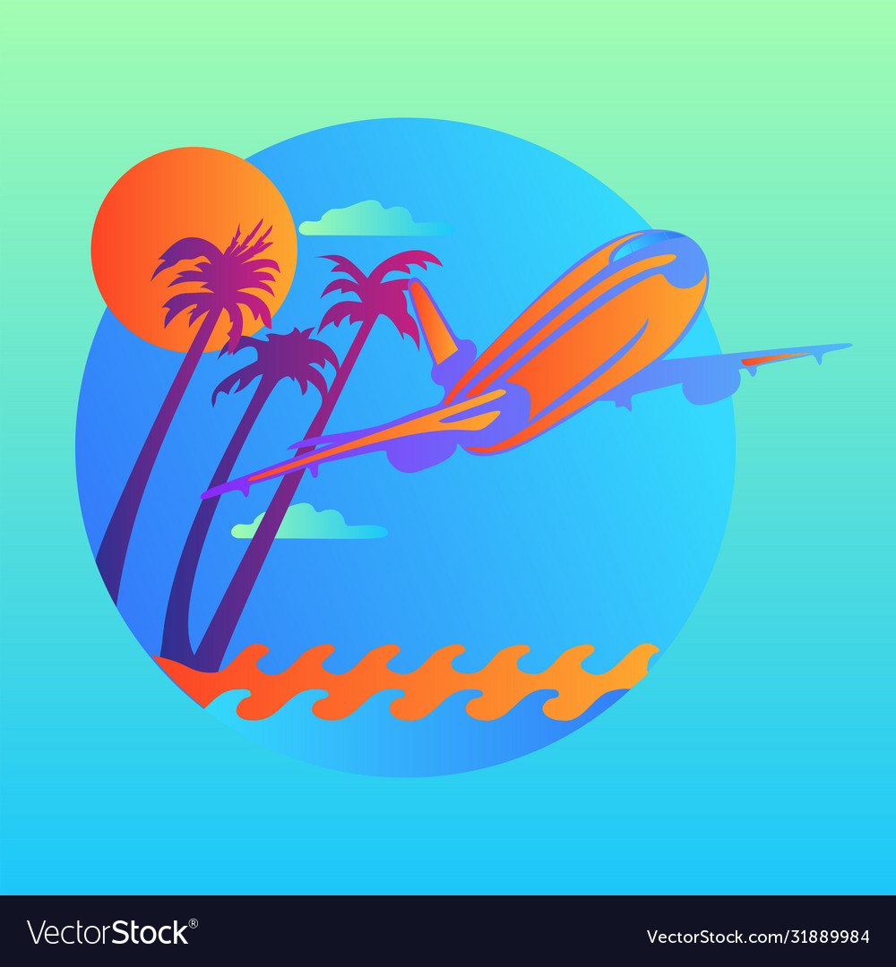 Island trendy and modern for travel symbol