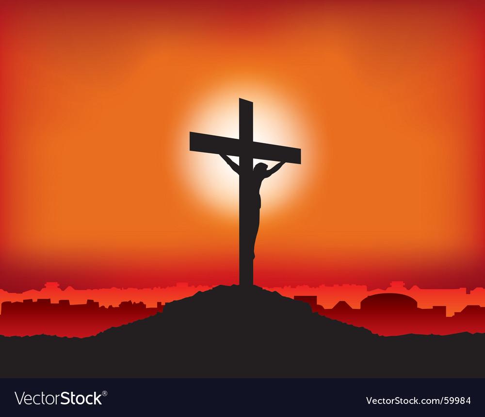 Jesus on cross vector image