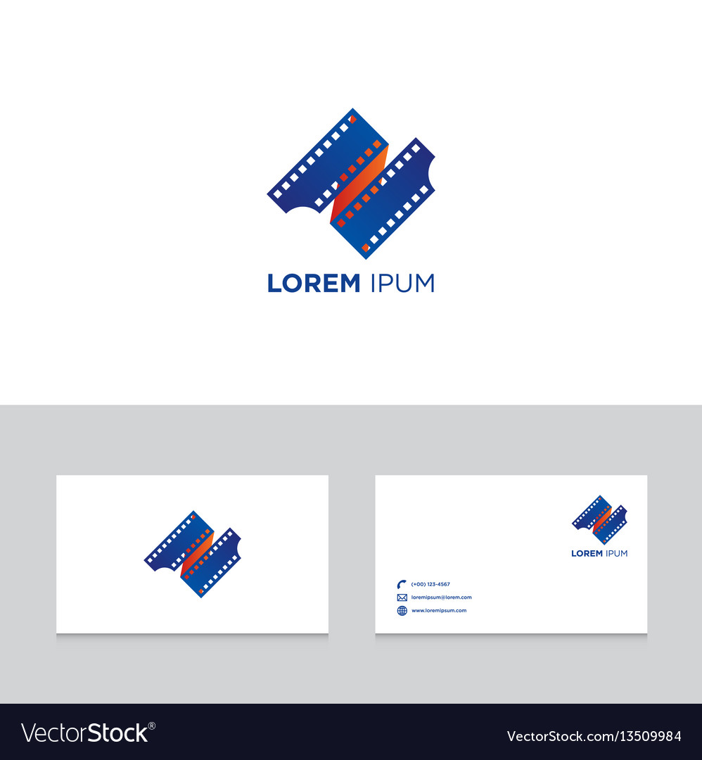 Logo design elements with business card template