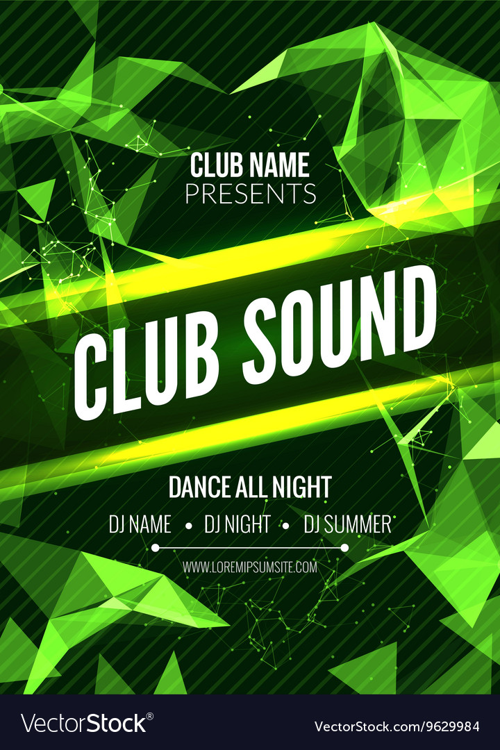 Modern Club Music Party Template Dance Party vector image