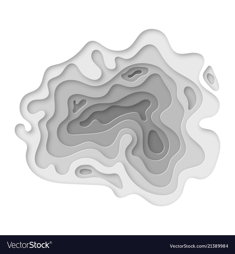 modern paper cut art design template royalty free vector