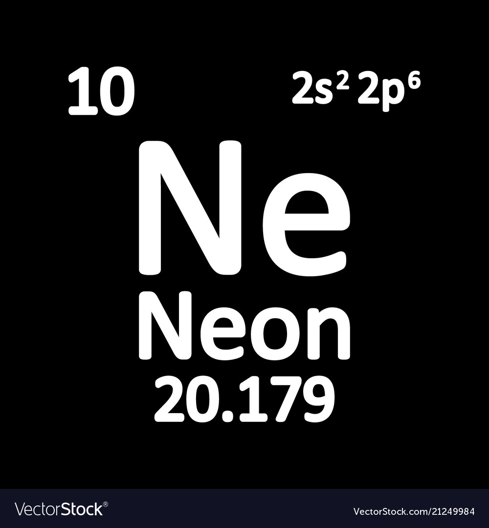 Periodic Table Element Neon Icon Royalty Free Vector Image