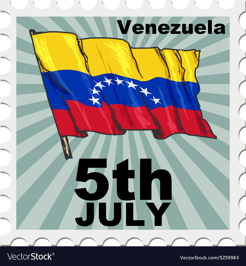 Post stamp of national day of Venezuela