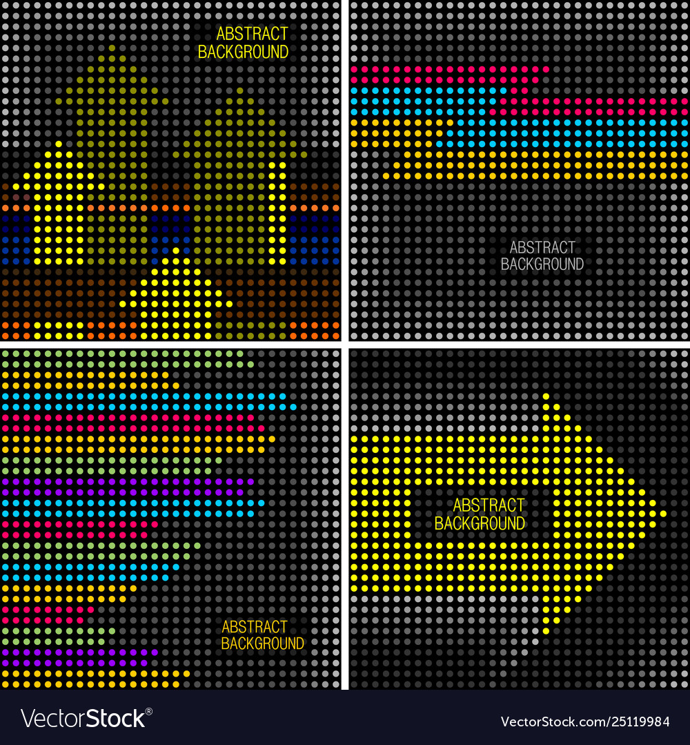 Set four backgrounds in retro disco