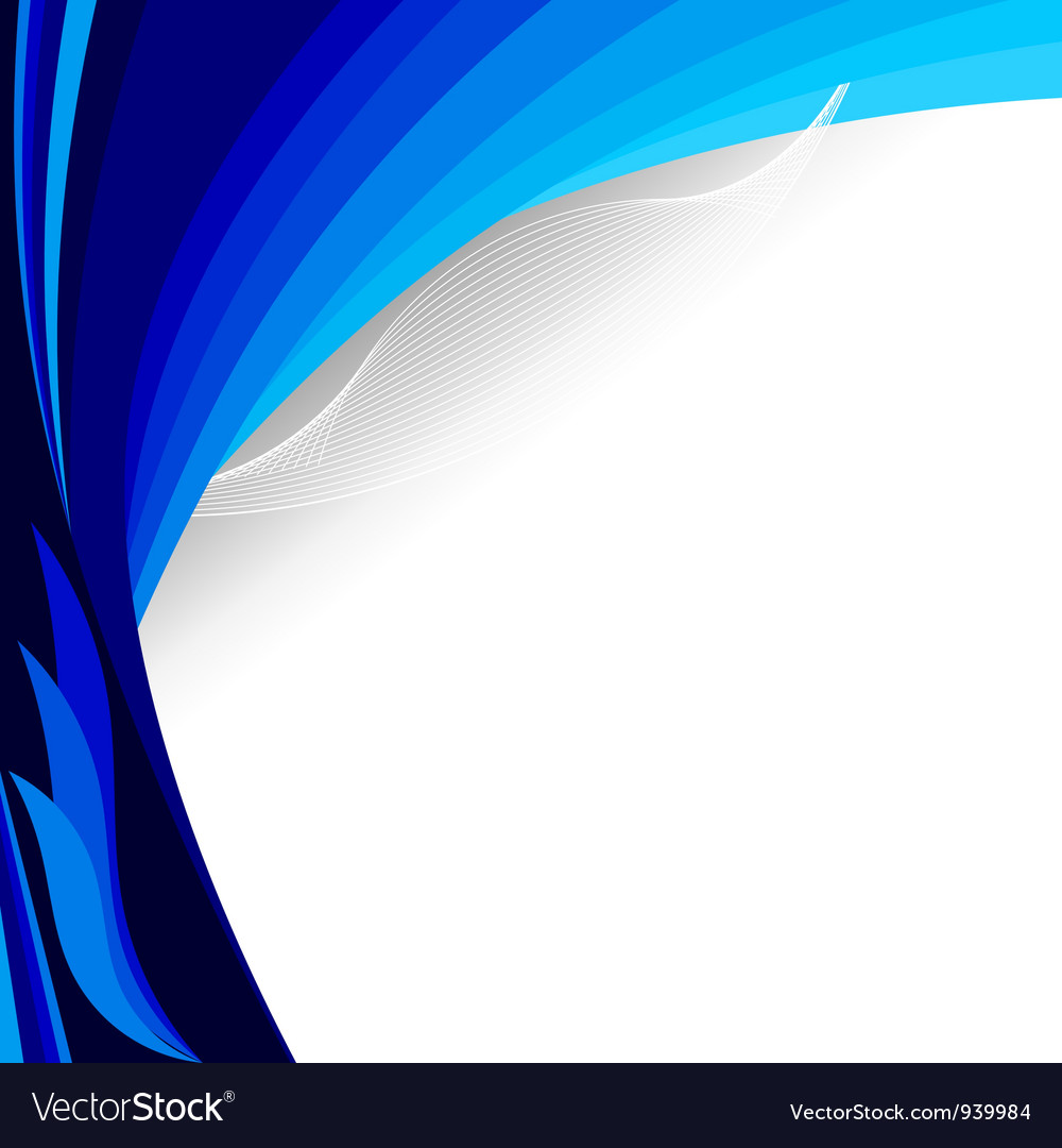 The blue background EPS10 vector image