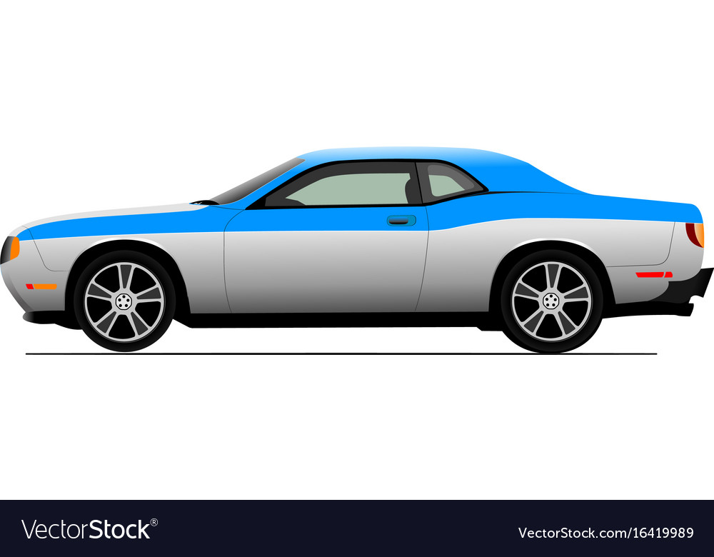 Cars on the road colored for designers vector image